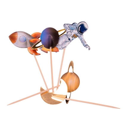 """Suupistetikud-kaunistused """"Kosmos"""" (20 tk / 12 cm)"""