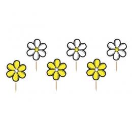 """Suupistetikud-kaunistused  """"Lilled"""" (6 tk)"""