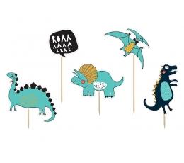 """Suupistetikud-kaunistused """"Vihased dinosaurused"""" (5 tk)"""