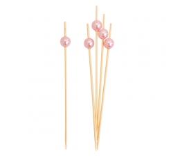 Suupistetikud, roosad pärlid (25 tk)