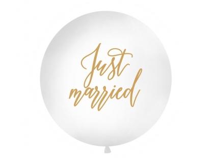 """Suur õhupall """"Just Married"""", valge (1 m)"""