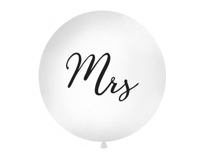 """Suur õhupall """"Mrs"""", valge (1 m)"""