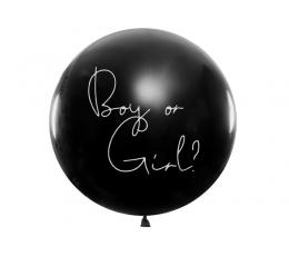 """Suur õhupall """"Kes sünnib?"""", helesiniste konfettidega (1 tk / 1 m)"""