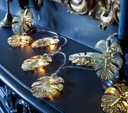 """Laua LED tulede vanik """"Kuldsed palmid"""" (2 m) 1"""