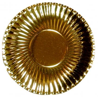 Taldrikud-alused, kuldsed (8 tk / 29 cm)