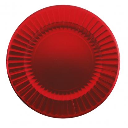 Taldrikud-alused, punase läikega (6 tk / 33 cm)