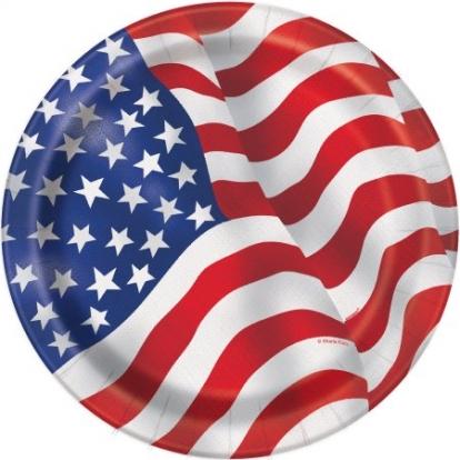 """Taldrikud """"Ameerika"""" (8 tk./18 cm)"""