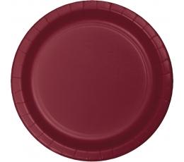 Taldrikud, burgundia värvi (24 tk / 17 cm)