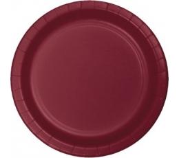 Taldrikud, burgundia värvi (24 tk / 22 cm)