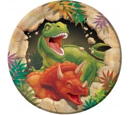 "Taldrikud ""Dinosaur Dino"" (8 tk./18 cm)"
