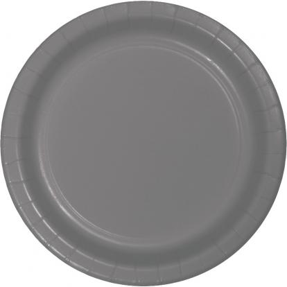 Taldrikud, hall matt (24 tk / 18 cm)