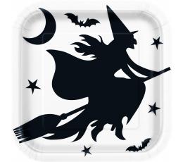 """Taldrikud """"Halloweeni nõid"""" (8 tk / 22 cm)"""