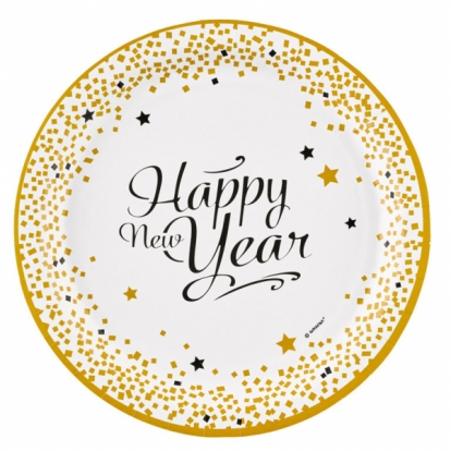 """Taldrikud """"Head uut aastat"""" (8 tk./22 cm)"""