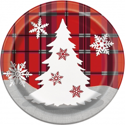 """Taldrikud """"Jõulud"""" (8 tk / 17 cm)"""