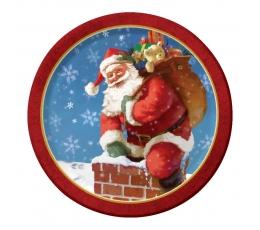 """Taldrikud """"Jõuluvana"""" (8 tk./17 cm)"""