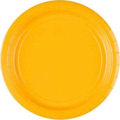 Taldrikud, kollased (8 tk / 22 cm)