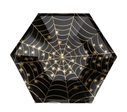 """Taldrikud """"Kuldne ämblikuvõrk"""" (8 tk. / 23 cm)"""