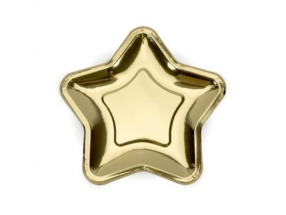 """Taldrikud """"Kuldne täheke"""" (6 tk / 18 cm)"""