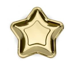 """Taldrikud """"Kuldne täheke"""" (6 tk / 23 cm)"""