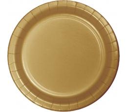 Taldrikud, kuldsed (24 tk / 17 cm)