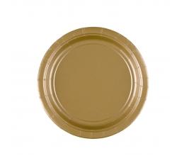 Taldrikud, kuldsed (8 tk / 17 cm)
