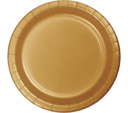 Taldrikud kuldsed (8 tk. / 22 cm)