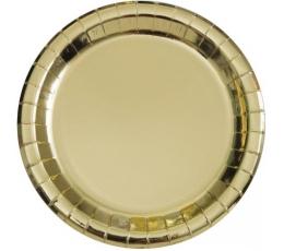 Taldrikud, kuldsed läikivad (8 tk / 18 cm)