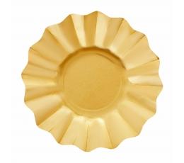 Taldrikud, kuldsed lilled (8 tk / 27 cm)