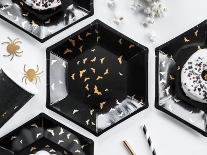 """Taldrikud """"Kuldsed nahkhiired"""" (6 tk./20 cm)"""