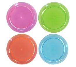Taldrikud läbipaistvad, värvilised (20 tk)