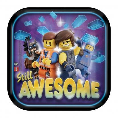 """Taldrikud """"Lego Movie 2"""" (8 vnt./18 cm)"""