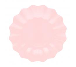 Taldrikud-lilled, roosad (8 tk / 21 cm) -öko