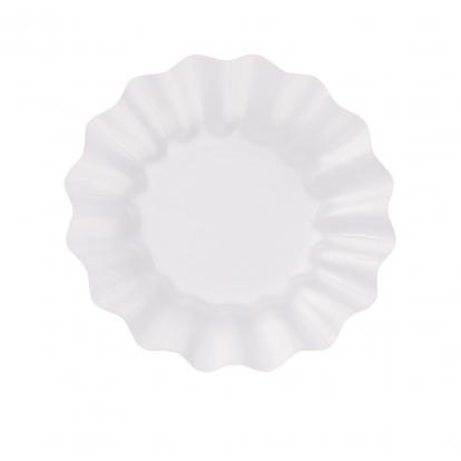 Taldrikud-lilled, valge pärlmutter (8 tk / 21 cm)