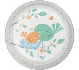 """Taldrikud """"Linnud"""", sinised (8 tk / 18 cm"""