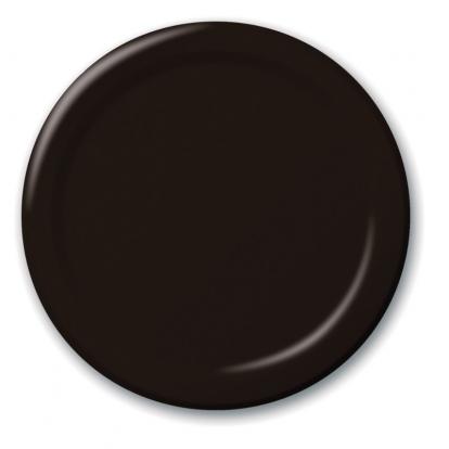 Taldrikud, mustad (24 tk / 18 cm)