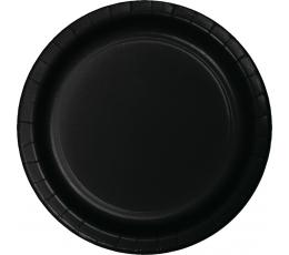Taldrikud, mustad (24 tk / 22 cm)