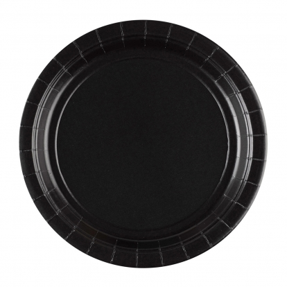 Taldrikud, mustad (8 tk / 18 cm)