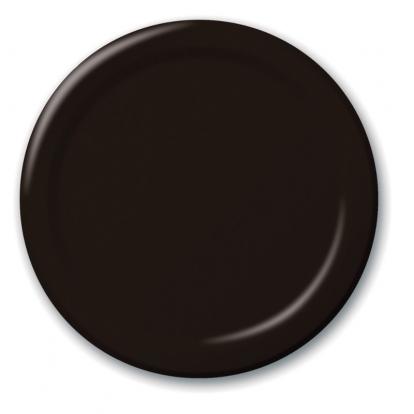 Taldrikud, mustad (8 tk / 22 cm)