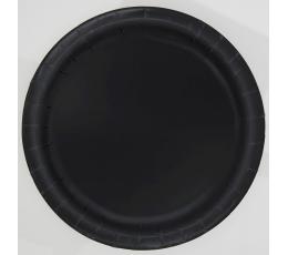 Taldrikud, mustad (8 tk./18 cm)