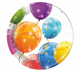 """Taldrikud """"Õhupallide Fiesta"""" (8 tk / 20 cm)"""