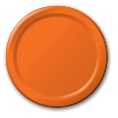 Taldrikud, oranžid (8 tk / 22 cm)