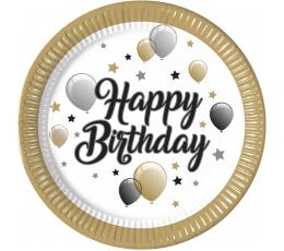 """Taldrikud """"Palju õnne sünnipäeva õhupallid"""" (8 tk / 23 cm)"""