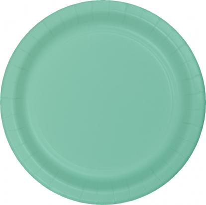 Taldrikud piparmündi värvi (8 tk / 22 cm)