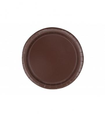 Taldrikud, pruunid (20 tk / 18 cm)