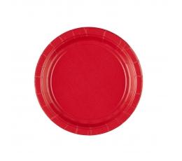Taldrikud, punased (20 tk / 17 cm)