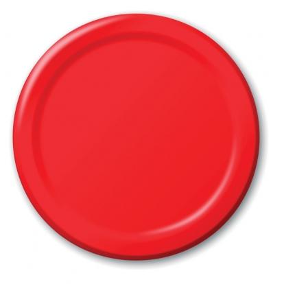 Taldrikud, punased (8 tk / 17 cm)