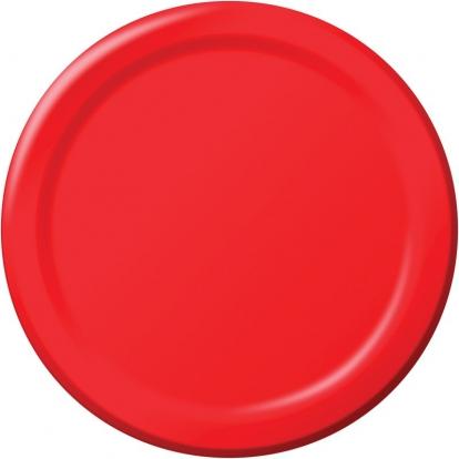 Taldrikud, punased (8 tk / 22 cm)