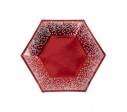 Taldrikud, punased, valgete täppidega (8 tk/20 cm)