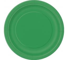 Taldrikud, rohelised  (8 tk. / 22 cm)