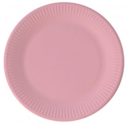 Taldrikud, roosad (8 tk / 23 cm) kompostitavad